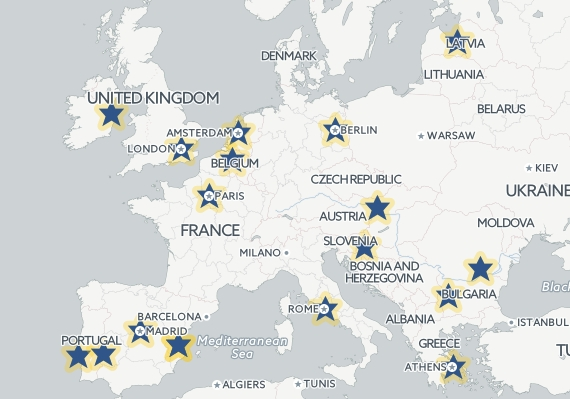 Startup Europe Awards Map